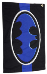 Batman Blue Line Emblem 24x15 Inch Golf Towel