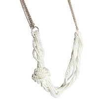 Banana Republic Gold Tone & Pearl Necklace $78