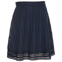 Pre-owned J. Crew Striped eyelet skirt item #C6005 Black (6)