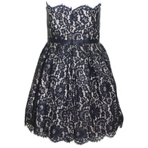 Pre-owned Neiman Marcus for Target Robert Rodriguez Strapless Lace Bell Dress Black (4)