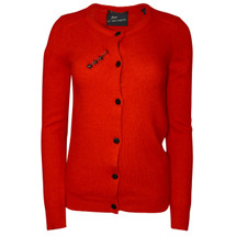Pre-owned MAISON SCOTCH Angora Cardigan Sweater Red (Petite)