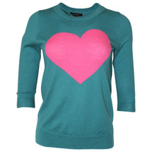 Pre-owned J. Crew Tippi sweater in heart me Teal/Pink (S)