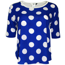 Pre-owned Dolce Vita Anex Rayon Dot Top in Blue (L)