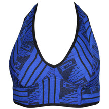 NWT Intimately Free People The Galloon Halter Bra in Blue Combo (S)