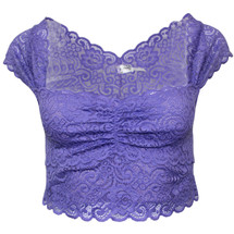 NWT Intimately Free People Lace Crop Top Bra in Purple  (S)