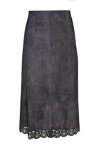 NWT Solitaire Faux Suede Skirt Black (M)