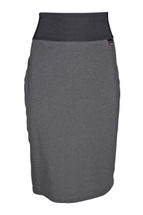 Pre-Owned Calvin Klein Stretch Pencil Skirt Charcoal/Black Band (S)