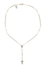 Belatriz Rosary 18k Gold Layered Pearl Necklace