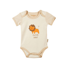 Eotton Certified Organic Cotton Baby Bodysuit w/ Short Sleeves