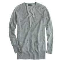 J CREW CLASSIC MERINO WOOL LONG CARDIGAN SWEATER