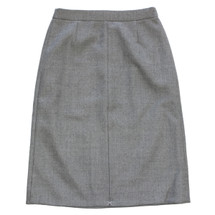 J CREW A-LINE MIDI SKIRT IN DOUBLE-SERGE WOOL