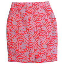 J CREW CROSSOVER PENCIL SKIRT IN PLUMERIA JACQUARD (8)