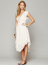 Free People X Garden of Eden Lace Dress Ivory Xsmall