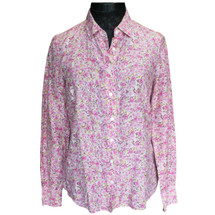 J.Crew The Perfect Shirt Floral Print Pink Combo (4)