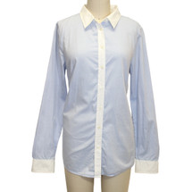 GAP Blue Color Block Size Medium Msrp $78 Button Down Shirt