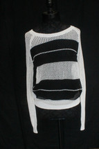 Halogen  Knitted Sweatshirt White/Black  Combo (L)