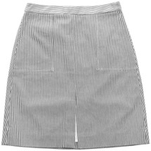 J CREW A-LINE SKIRT WITH POCKETS IN SKINNY STRIPE