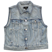 J CREW DENIM VEST IN CALYER WASH (L)