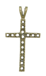 """1 1/4"""" Cross with 16 Stone Settings."""