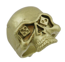 """1"""" Skull with Dice Eyes"""