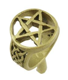 """5/8"""" Pentagram Ring"""