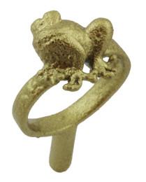 """3/8"""" Sitting Frog Ring"""