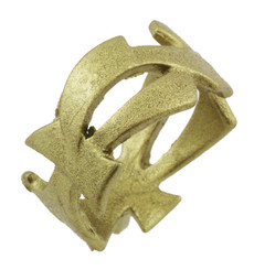 """1/2"""" Celtic Ring With Sharp Edges."""