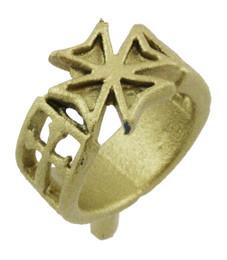 """3/8"""" Maltese Cross Ring"""