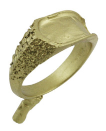 """3/8"""" Nugget Ring With Inlay Top"""
