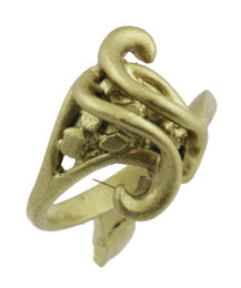 """1/2"""" Nugget Ring With Wavy Lines."""