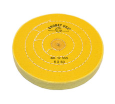 "Yellow-Treated Buffing Wheel 6"" x 50 Ply"