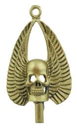 """1 1/2"""" Winged Skull"""