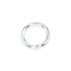 8 MM Silver Plated Jump Rings - DZ