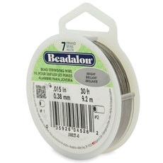 Beadalon 7 Strand Stainless Steel Bead Stringing Wire,  .015 in  30' Bright