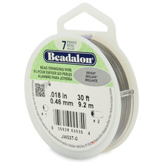 Beadalon 7 Strand Stainless Steel Bead Stringing Wire,  .018 in  30' Bright
