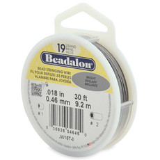 Beadalon 19 Strand Stainless Steel Bead Stringing Wire,  .018 in  30' Bright