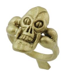 """3/4"""" Skull on Bone Shank"""