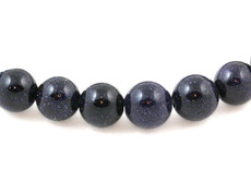 Blue Goldstone Beads 8 MM