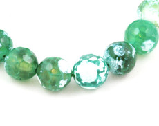 Green Agate Beads Faceted 10 MM