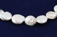 Freshwater Pearls Irregular Button 17 MM