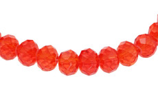 Light Red 8 MM Rondelle Faceted