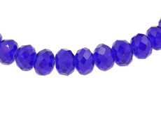 Dark Blue 8 MM Rondelle Faceted