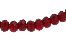 Garnet Color 8 MM Rondelle Faceted
