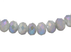 Alexandrite Opaque AB Color 8 MM Rondelle Faceted