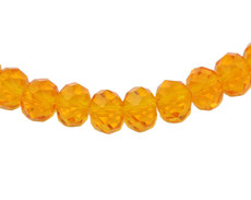 Topaz Color 8 MM Rondelle Faceted