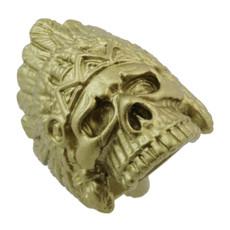 """1 1/4"""" Skull w/ War Bonnet"""