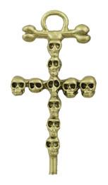 """1 5/8"""" Skulls Cross"""