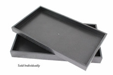 "1"" Black Plastic Stackable Trays"