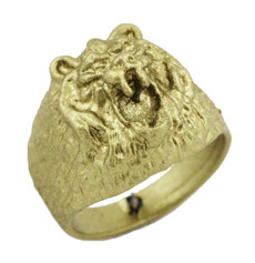 "1/2"" Lion Face Ring"