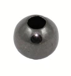 6 mm Gun Metal Round Beads 100 Pcs